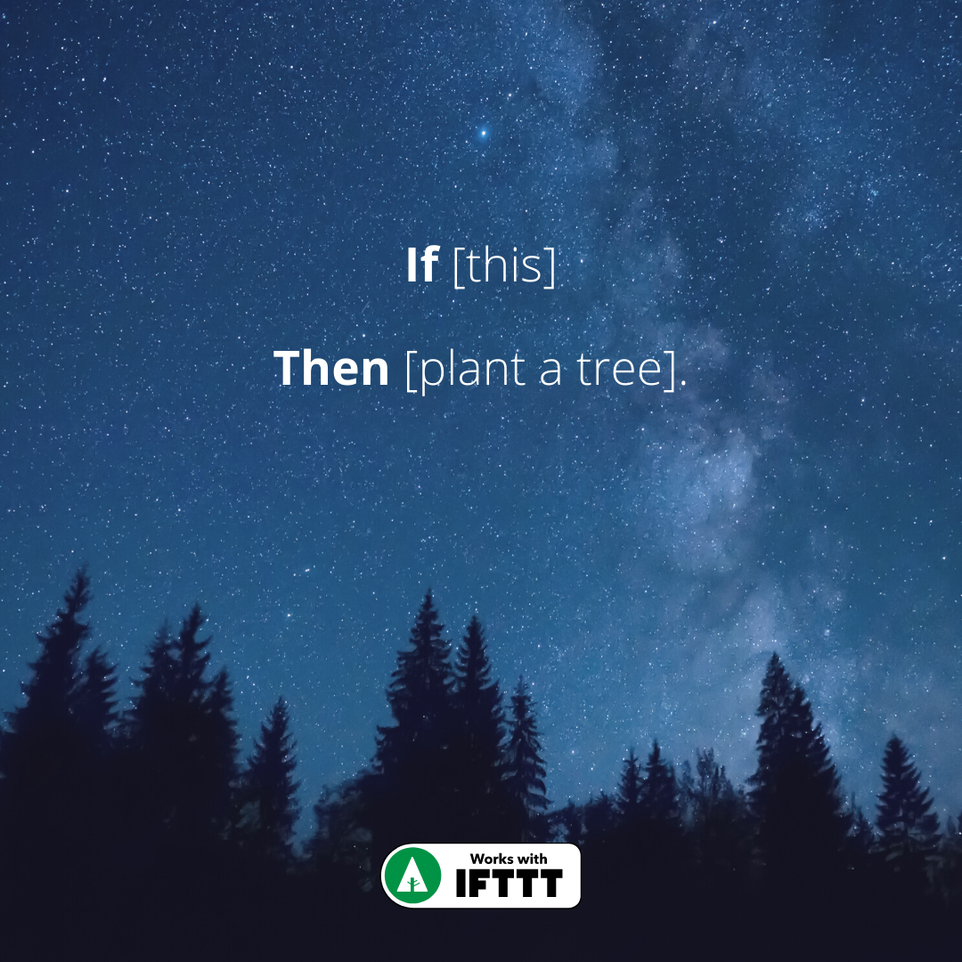 MoreTrees - Web page - IFTTT integration