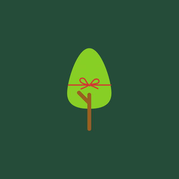 Plant a tree for Christmas cards